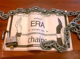 This chain, and women used it and its like, shut the Morman Temple in MD, the Republican National Committee headquarters , and closed Pennsylvania Avenue. For the ERA.