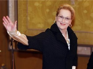 "FILE - In this March 5, 2015, file photo, Actress Meryl Streep arrives for a photocall for her film ""Into the Woods"" in Tokyo. No actor or actress can match Streep's 19 Academy Award nominations, and only Katharine Hepburn has bested her three Oscars for acting. So maybe it's conceivable that Streep's letter on Tuesday, June 23, to each member of Congress can somehow revive the Equal Rights Amendment, politically dormant since its high-water mark four decades ago. (AP Photo/Shuji Kajiyama, File)"